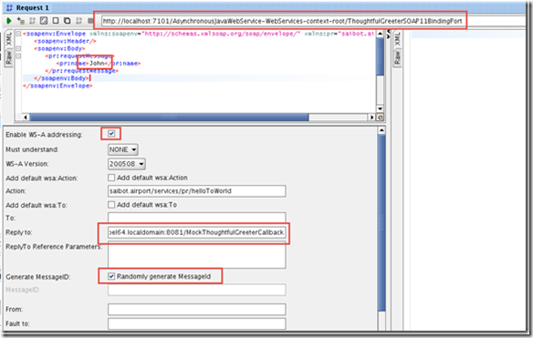 Test Asynchronous Service from SoapUI (Chapter 12) | Oracle SOA